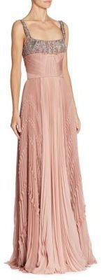 J. Mendel Embroidered Silk Gown