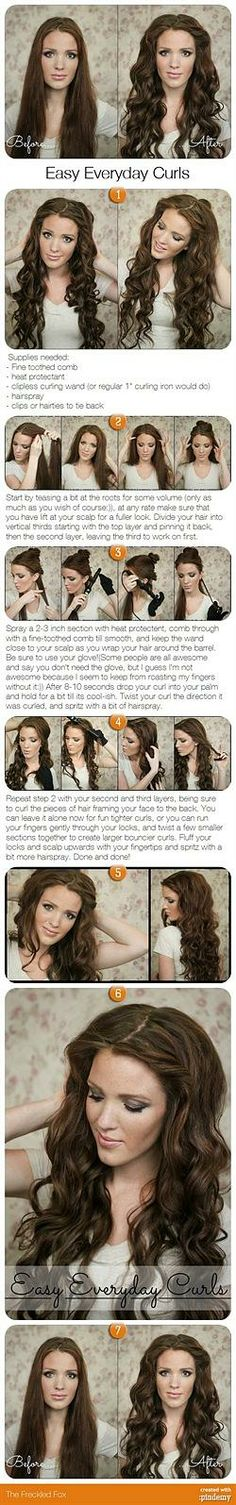 DIY easy everyday curls