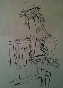 Pin Up Girl Airbrush Stencils