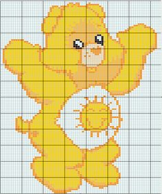 Care Bear hama perler pattern