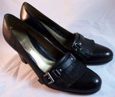 KENNETH COLE Women's Shoes ~ Black Leather Fringe Pumps ~ Size 8 M #KennethCole #PumpsClassics