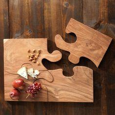 Teak Puzzle Serving Tray - Furniture & Decor - Home - Gaiam