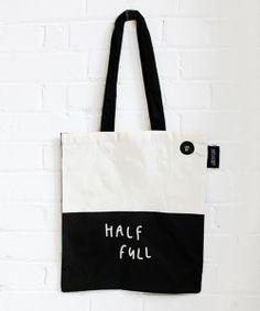 Half Full/Half Empty Tote Bag