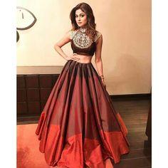 Rs.1999, Buy Online Shamita Shetty Poly Silk Printed Maroon Semi Stitched Bollywood Designer Lehenga - Jk48 - J.k Fashion - Reviews - Indiarush
