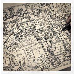 Sketchbook 2014 by Steve Simpson, via Behance
