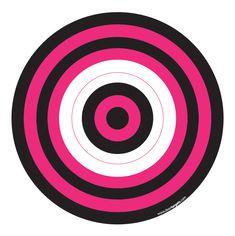 Black & Pink Printable Target