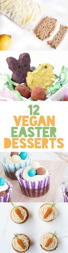 12 Vegan Easter Desserts | http://ElephantasticVegan.com