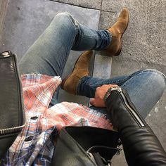 Saint Laurent Jacket Shirt Jeans & Boots // PREACHER STYLES Dope Fashion, Mens Fashion, Fashion Outfits, Look Man, Casual Wear For Men, Wearing All Black, Mein Style, Outfit Combinations, Gentleman Style