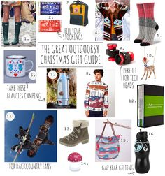 What's this? What's this?  It's my great outdoorsy Christmas gift guide, just in time to save you from THE PRESENT PANIC. It's got everything from stocking fillers for under a fiver to the perfect outdoors prezzies for snow fiends, tech heads and fashionable ladyfriends.  http://thegirloutdoors.co.uk/2013/12/09/the-great-outdoorsy-christmas-gift-guide/