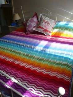 #crochet #crafts  Beautiful Ripple Throw by knitknatknotuk