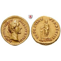 Römische Kaiserzeit, Antoninus Pius, Aureus 158-159, f.vz: Antoninus Pius 138-161. Aureus 20 mm 158-159 Rom. Kopf r. mit… #coins
