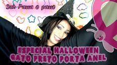 Sah Passa o passo - Gato Preto Porta Anel - Especial Halloween