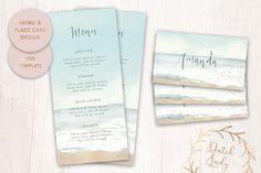PSD Wedding Menu Photoshop Program, Photoshop Software, Photoshop Elements, Adobe Photoshop, Wedding Place Cards, Wedding Menu, Menu Card Template, Restaurant Menu Template, Graphic Design Company
