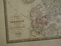 SWEDEN Old Map Of Sweden And Norway By VintageOldMaps - Sweden big map