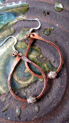 Handmade copper Hoop earrings by Traebetruedesign on Etsy, $18.00
