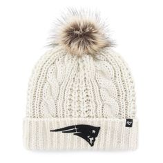 Women s  47 Brand New England Patriots Meeko Cuffed Knit Hat 860555a4766a