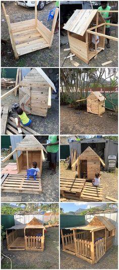 DIY Pallet Garden Playhouse Step by Step Plan