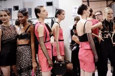 A pink party backstage at Jason Wu SS13 #NYFW