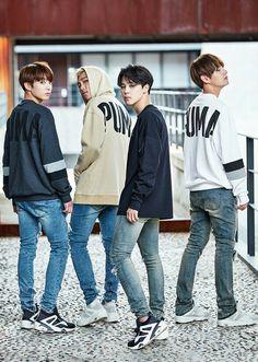 BTS PUMA Jungkook, Rap Monster, Jimin and Taehyung