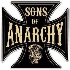 "Sons of Anarchy Cross Car Bumper Sticker Decal 4""x4"""