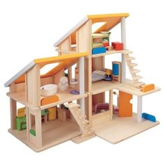Chalet Dolls House by Plan Toys, just darling