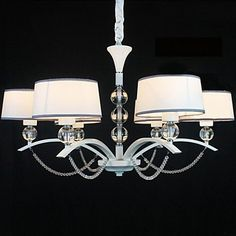 40w+Modern/Contemporary+Crystal+Chrome+Fabric+Chandeliers+Living+Room+/+Bedroom+/+Dining+Room+/+Hallway+–+USD+$+229.99