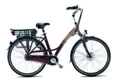 Bicicleta eléctrica Titanium color grosella.