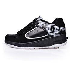Leder Schuhe Mit Eingebauten Rollen