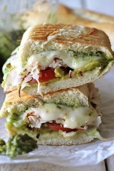 Give your turkey an Italian twist by making a Leftover Thanksgiving Turkey Pesto Panini with fresh mozzarella, thick slices of tomato, and nutty pesto.