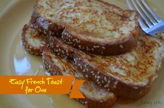 This Easy French Toast for One Recipe cooks up in five minutes and is perfectly sized for just one person.