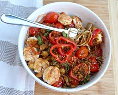 A Squared: What's For Dinner Wednesday: Grilled Shrimp & Spaghetti with Spicy Breadcrumbs