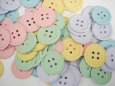 100 Pastel Button punch die cut scrapbooking by BelowBlink on Etsy