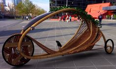 This bamboo Ajiro concept bicycle rethinks both our means of transportation and the ways we manufacture our vehicles. Designed by Monash University student Alexander Vittouris, the Ajiro utilizes a production process that removes emissions instead of releasing them into the Earth's atmosphere. That's because the bamboo structure of this vehicle is grown straight out of the ground into a preformed mold. Vittouris envisions fields of bamboo gardens growing these human powered bicycles.