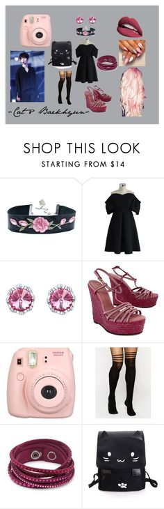 """""""JDS ~ Cat & EXO ~ Baekhyun"""" by bts-obsessed on Polyvore featuring Mode, Chicwish, Gucci, Fujifilm, ASOS und Swarovski"""