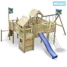 WICKEY-Castle-Camelot-Play-Climbing-Frame-swing-set
