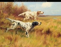 English Setters on Point - Thomas Blinks - WikiGallery.org, the ...
