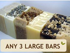Any 3 Luxurious, Natural Soaps!!
