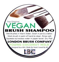 LONDON BRUSH COMPANY: Vegan Solid Brush Shampoo: Young Coconut Milk