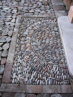 How To Make Beautiful Garden With Pebble Design Ideas Be.-How To Make Beautiful Garden With Pebble Design Ideas Best Pictures) Boden - Pebble Mosaic, Stone Mosaic, Pebble Art, River Rock Landscaping, Backyard Landscaping, Amazing Gardens, Beautiful Gardens, Beautiful Beautiful, Pebble Garden
