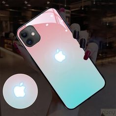 Sound Control LED Glowing iPhone Case (from 7 to XS Max) - iPhone XR / Sky Blue