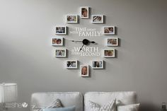 Time Spent With Family – Clock Decor DIY #howdoesshe #decorating howdoesshe.com