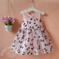 Baby Bows Pink Lovely #Kids #party #Dress Special Price: Rs 1,487.50