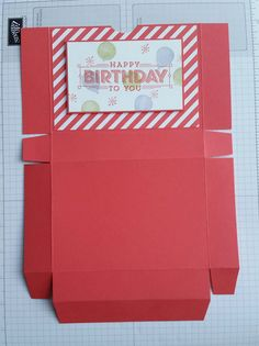 Stampin' Up! Demonstrator stampwithpeg : Box for Super Duper Birthday Cards, with Instructions. As promised I am back today with a box for the cards I showed on my blog on Saturday, If you didn&#82…