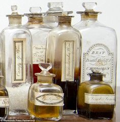 The chest was made up a year before the first successful blood transfusion, and 30 years before the first painless surgery with general anaesthetic http://www.dailymail.co.uk/news/article-2164411/19th-century-medicine-chest-time-capsule-1817-containing-dozens-exotic-potions-goes-sale.html#
