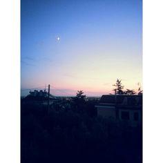 Photo by AngelaRizzo® ~ sunset moon