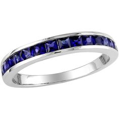 3/4 Carat T.G.W. Created Sapphire Eternity Ring in Sterling Silver    Makes for a beautiful wedding band $49.00