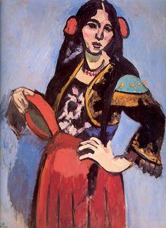 Matisse Paintings of Women | Spanish Woman with Tambourine, 1909 | Matisse | Pushkin Museum of Fine ..