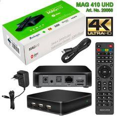 IPTV MAG 410 UHD VOD OTT WiFi Streambox