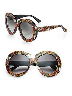 Saks Fifth Avenue - Valentino Camu Butterfly 54MM Round Sunglasses