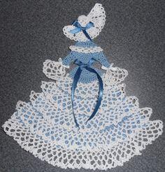New Handmade Blue Crinoline Southern Belle Crochet Doily. $9.99, via Etsy.